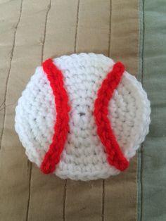 Crochet baseball appliqué