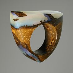 Love this ring!!!!! Ring | AQA Contemporary Opal Designs | #Boulder #Opal
