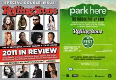 Fatboy® and Park Here at Openhouse Gallery were featured in the Special Double Issue of the renowned Rolling Stone  Magazine '2011 in Review'.