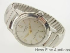 Mens Vintage Stainless Steel 17 Jewel Sellita Running Wrist Watch #Sport