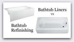 Pros & Cons Of Bathtub Refinishing vs Installing A Bathtub Liner Insert - Things you should know before deciding which alternative is right for your project. www.refinishingonline.com