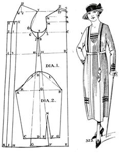 Inspiration :: Pattern for Woman's 1920s Dress
