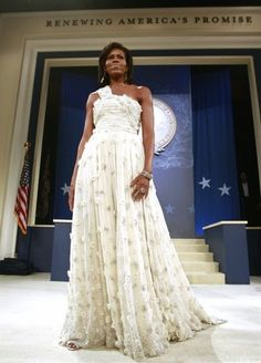 First Lady Michelle Obama in her Inauguration gown 2008. Diva comes with the title. Style and attitude comes with the woman