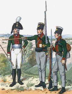 """Ufficiale, sottufficiale e fuciliere del btg. fanteria prussiana """"Graf Wedel"""""""