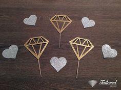 12 Diamond Toppers Gold Glitter Diamond by TailoredDecorLtd