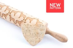 Irish wolfhound  Embossed engraved rolling pin by HousemateArtist