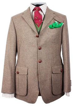 Green vest and pocket square