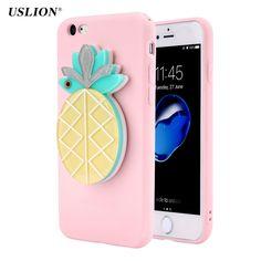 USLION Fashion Cute Fruit Mirror Phone Case For iPhone 7 6 6s Plus Creative Watermelon Soft TPU Cases Back Cover Fundas #Affiliate