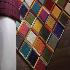 Spectrum Waltz Multicoloured Rugs buy online from the rug seller uk Funky Rugs, Colorful Rugs, Multicoloured Rugs, Best Carpet, Centre Pieces, Stripes Design, Modern Rugs, Carpet Runner, Green And Grey