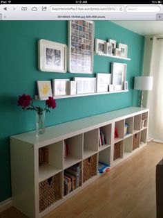 This office accent wall was painted with Sherwin Williams Nifty ...