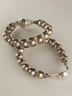 Sterling #Silver & Pearl Wrapped #Bracelet. #Handmade #Jewelry