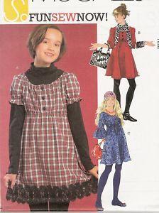 M5745 Easy Tween Girls Peasant Dress Pattern 10 5 16 5   eBay