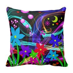 Gorgeous Abstract Floral Throw Pillow