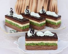 Aleda konyhája: Mozart szelet Amadeus Mozart, Marzipan, Sweet And Salty, Cake Recipes, Cheesecake, Deserts, Paleo, Food And Drink, Sweets