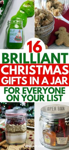 15 DIY Christmas gifts in a jar for everyone on your list. Mason Jar Christmas Gifts for Coworkers, friends, teachers, and family. These gift ideas are super easy and cheap to make. Homemade recipes for edible gifts. Most of these recipes come with printable labels which makes it super quick to do! Have a stress free Christmas on a budget by making DIY Christmas gifts in 2018! #christmasgifts #christmascraftsforkids #christmasgiftideas #masonjargifts #masonjarideas #diychristmasgifts