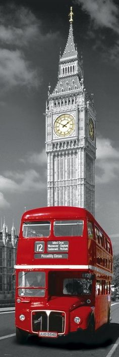 Been there, done that!!!! LONDON RED BUS - big ben- Europosters