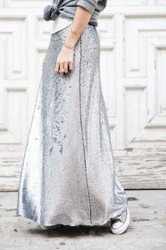 Soft silver and Converse