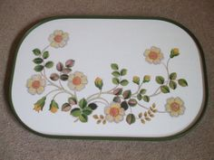 M&S Autumn Leaves melamine tea tray 1970-80's Collectable vibrant condition in Pottery, Porcelain & Glass, Pottery, Marks & Spencer | eBay