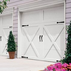 I really love this impressive side hinged garage door - ImPane Garage Door Wheels, Garage Doors, The Home Depot, Door Makeover, Diy Christmas Door, Garage Door Design, Garage, Garage Door Types, Doors