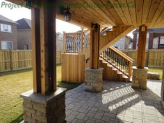 The lower deck area. #Deck design #custom deck #interlocking #patio #Toronto