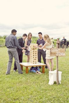 giant jenga baby shower - Google Search