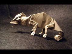 Origami chameleon by Arthur Biernacki - YouTube