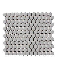 Shapes Hexagon Unglazed Biscuit 23x26mm Mosaic