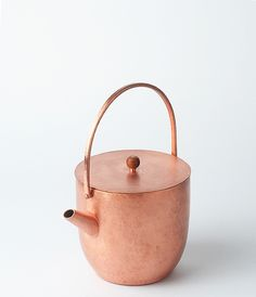 """""""When Copper Meets Japanese Aesthetics"""" — copper kettle by Yumi Nakamura"""