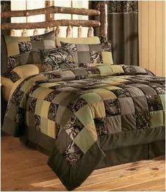 queen camo quilt comforter set cabin western decor bedding western