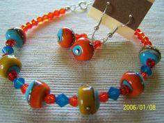 Artisan Lampwork Beads and Swarovski by lindasoriginaljewels, $20.00