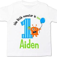 monster birthday party shirt little monster themed by zoeysattic, $16.50