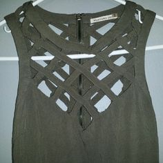 MUSTARD SEED Caged Dress This is an olive green, super sexy dress from mustard seed.. it is in great condition Mustard Seed Dresses High Low