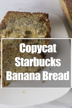 This banana nut bread tastes just like Starbucks banana bread. It is moist and tender and has just the right amount of walnuts, pecans, bananas, and sugar to replicate the Starbucks banana bread recipe. Healthy Bread Recipes, Best Keto Bread, Banana Bread Recipes, Cake Recipes, Dessert Recipes, Best Banana Bread Recipe Sour Cream, Banana Bread Without Butter, Banana Recipes Videos, Sweets