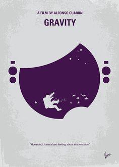 No269 My Gravity Minimal Movie Poster Digital Art