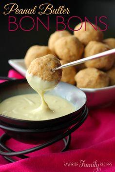 Peanut Butter Bon Bons - Favorite Family Recipes