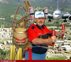 Flying beer machine!