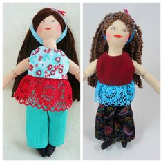 Brunette Dress Up Doll  OOAK Toys For Kids by JoellesDolls on Etsy