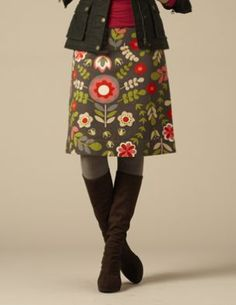 mod retro 60s 70s fashion Boden Autumn Harvest skirt LOVE IT Orla Kiely