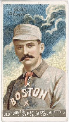 4aeba5ef16 [King Kelly, Boston Beaneaters, baseball card portrait] Baseball Card  Values, Baseball