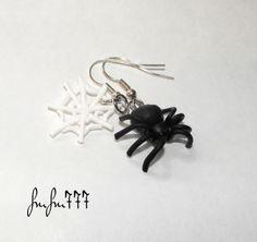Pók és hálója fülbevaló (frufru777) - Meska.hu