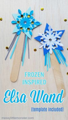 Frozen Inspired Elsa Magic Wand Craft – Keep up with the times. Disney Crafts For Kids, Winter Crafts For Kids, Paper Crafts For Kids, Toddler Crafts, Summer Crafts, Holiday Crafts, Art For Kids, Disney Frozen Crafts, Craft With Paper