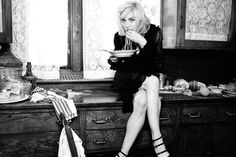 Madonna eating spaghetti for Dolce & Gabbana #Expo2015 #WorldsFair #milan