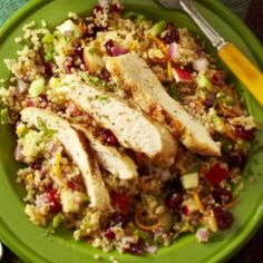 Quinoa salad with chicken! Healthy lunch recipe!