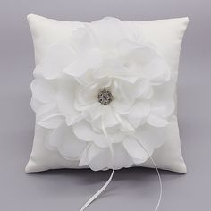 Wedding*Ring Pillow*Double Garter Set*Guest Book*Black*White*Rhinestones*Floral*