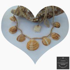 Real Seashell Crochet Necklace  #CrochetNecklace #WomenJewelry #ShellPendant #FashionStyle #NaturalShell #BohoBeach #GiftForGirl #FallWinter #CharmChoker #SeashellAccessories Shell Necklaces, Handmade Necklaces, Tassel Necklace, Crochet Necklace, Handmade Jewelry, Shell Pendant, Beige Color, Gifts For Girls, Necklace Lengths