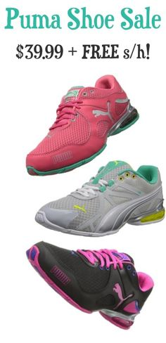 Puma Shoe Sale: $39.99 + FREE Shipping!!  Score a deal today only on these super-cute Puma Training Shoes!