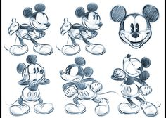 Art by Pedro Astudillo* Cartoon Girl Drawing, Cartoon Sketches, Disney Sketches, Disney Drawings, Cartoon Styles, Retro Cartoons, Old Cartoons, Classic Cartoons, Mickey Mouse Drawings