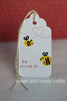 sweet and lovely crafts: bee mine Valentine - as a book marker?