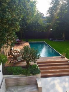 Seductive pool deck ideas for you and your family - garden design deck design family garden ideas pool seductive # Small Backyard Design, Small Backyard Patio, Backyard Landscaping, Deck Patio, Patio Table, Patio Design, Backyard Ideas, Garden Ideas, Backyard Designs