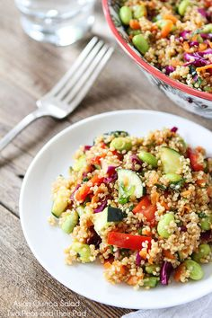 Use a @Swiss Diamond Cookware Saucepan to make this healthy Asian Quinoa Salad #Recipe from Two Peas and Their Pod. It's packed with veggies and perfect for an easy dinner or even as a side dish for your summer BBQs! #MeatlessMonday --> http://swissdiamond.us/standard-non-stick-cookware-collection/saucepans.html